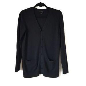 Talbot's 100% cashmere v neck cardigan